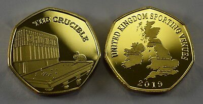 Pair of THE CRUCIBLE Commemoratives. 24ct Gold. Silver. Albums/Filler 2019 10