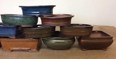 16cm Mixed Bonsai Pots X5 4