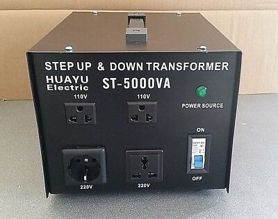 Transformador De Corriente 5000W Pasa De 220V A 110V Y De 110 A 220V Convertidor 2