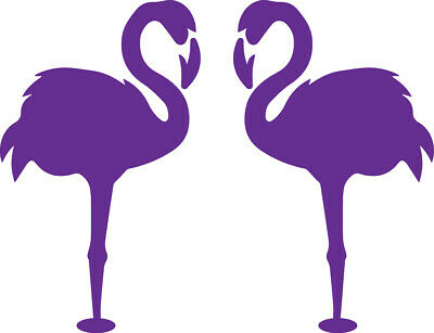 Window Wall Glass Display Pair Flamingo Bird Silhouette Decal Sticker Craft 5