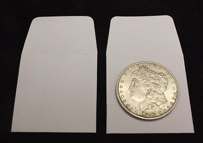 250 2x2 White Paper Coin Stamp Envelope GUARDHOUSE Archival Acid /& Sulpher Free