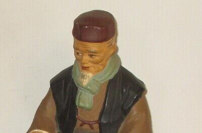 Hakata Urasaki Doll Figurine Handmade Old Man Sitting Holding Food 2