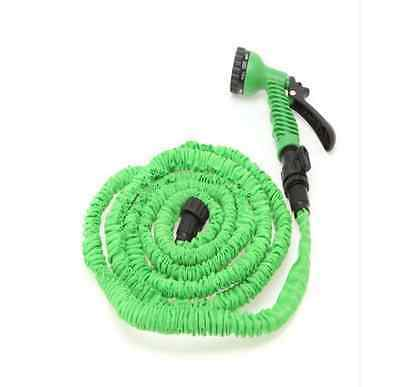 Latex 25 50 75 100 FT Expanding Flexible Garden Water Hose with Spray Nozzle 11