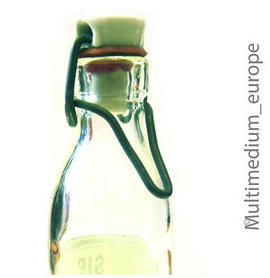 alte Apotheker Flasche Bügelverschluß Sir. Althaeae Schott & Ben Mainz Jena-Glas 2