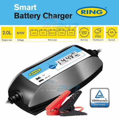 Ring RSC404 6v 12v Digital 4A Intelligent Smart Car Motorbike Battery Charger 8