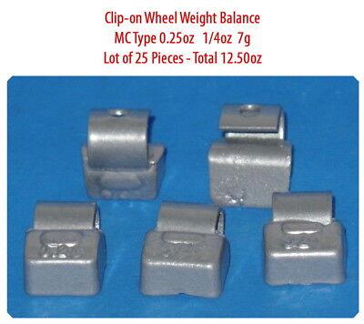 Assort 300 Pc Clip-on Wheel Weight Balance Type MC 0.25 0.50 0.75 1.0 1.25 1.50z 2