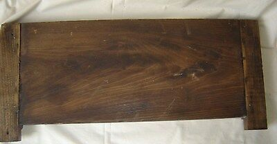 Antique Oak or Chestnut Pediment with Applied Carving. 8402 5