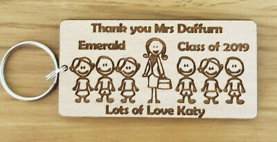 Personalised Keyring School Gifts For Teacher Nursery End Of Year Term Christmas 2
