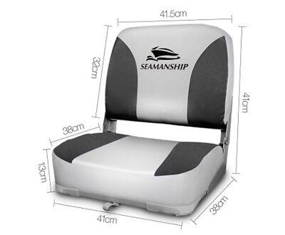 Seamanship Set of 2 Folding Swivel Boat Seats - Grey Warranty Fast & Free Post 3