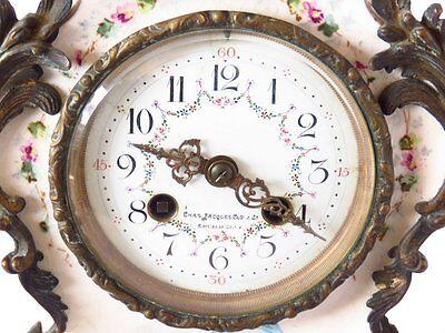 Rare Late Nineteenth Century Charles Jacques Porcelain Cherub Clock ~Exquisite~ 5