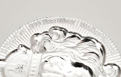 1 x 5 oz .999 Silver STACKER ROUND by Scottsdale Mint - 5 oz .999 Silver #A375 4