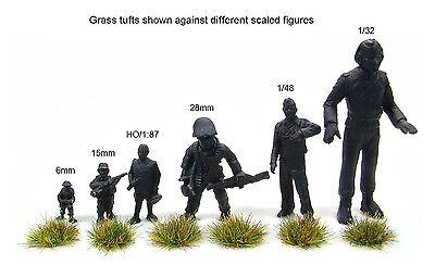 x117 sheet Self adhesive static grass tufts - Model scenery flock wargames 2