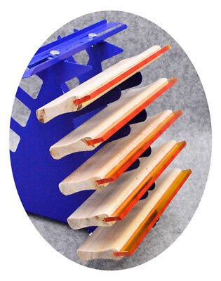 Desktop Siebdruck Squeegee Rack Spachtel Halter Veranstalter Regale Werkzeug 8