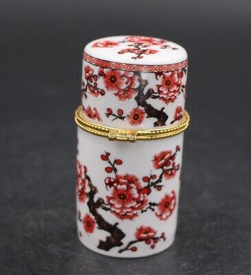 Chinese Porcelain plum blossom Toothpick Box Holder Storage Lucky Jewelry Box 3