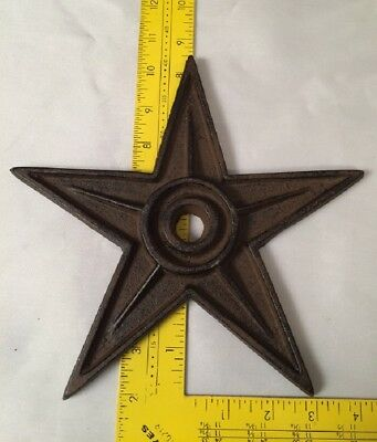 "Center Hole Texas Star Rustic Cast Iron X-Large Decor 9"" (Single) 0170-02105 9"