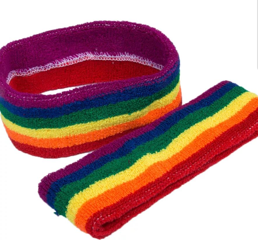 9cdfdddf6dbe9 1 di 2 Pride Rainbow Head Band Gay Pride LGBT Love Wins Lesbian Fancy Dress  Accessories