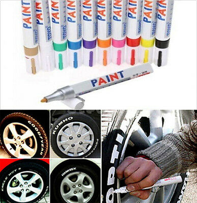 1PC Waterproof Permanent Paint Marker Pen For Car Tyre Tire Tread Rubber Metal 2
