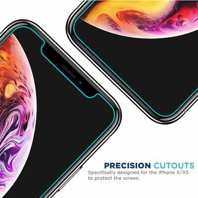 iPhone XS Max XR X - 2X Tempered Glass Screen Protector Apple 4