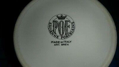 VINTAGE POF ITALY Ancienne Porcelaine Syrup Honey Pitcher Onion Decoration