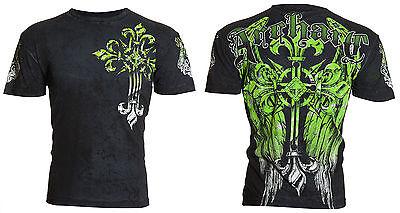 ARCHAIC by AFFLICTION Men T-Shirt WRETCH Cross Wings Tattoo Fight Biker MMA $40 3