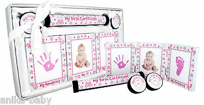New Baby Keepsake Gift Set Christening Present Boy Girl - Silver Pink Blue Gold 7