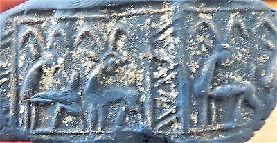 Zurqieh - Af1365- Ancient Canaanite Faience Cylinder Seal. 1700 - 1550 B.c 6