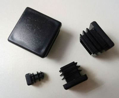 Square Plastic End Caps Blanking Plugs Box Section /Tube Inserts / Black 4
