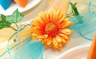 Komplette Tischdeko In Turkis Orange Fur Hochzeit Geburtstag