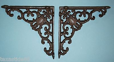 (6)pcs, ELEGANT VICTORIAN STYLE SHELF BRACKETS, ANTIQUE-LOOK VICTORIAN, B-29 2