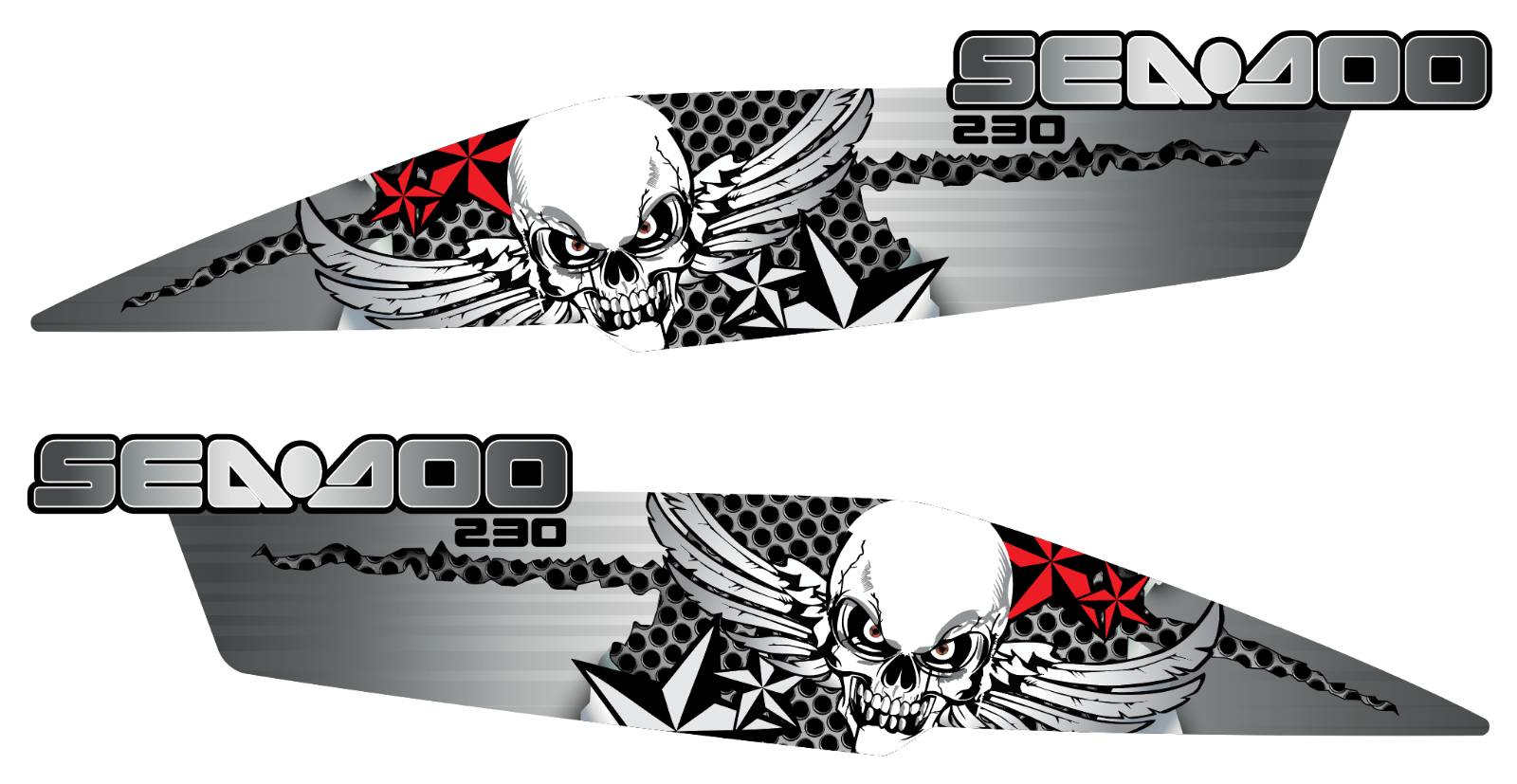 SEADOO WAKE 210 GRAPHIC KIT BPR CHALLENGER SE 21 STICKERS DECALS VYNYL WRAP SET