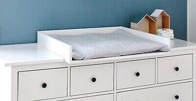 I LOVE MY Kid - Wickelaufsatz Baby weiß passend für breite Hemnes Kommode  160 cm