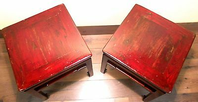 Antique Chinese Ming Meditation Bench/End Table (5315)(Pair), Circa 1800-1849 8