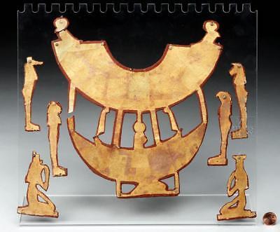Egyptian Gilded Cartonage Mummy Pectoral Ensemble Lot 2