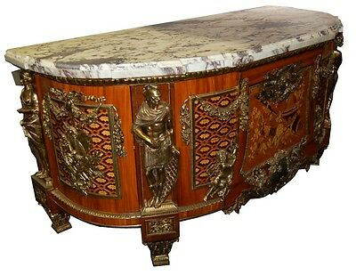 French Louis XVI Cabinets, a Pair, Large with Marble Top #5969 3 • £59,109.47