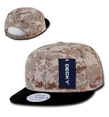 ... 1 Dozen DECKY Snapback Army Flat Bill 6 Panel Camouflage Hats Caps  Wholesale Lot 4 1b100f4be5d