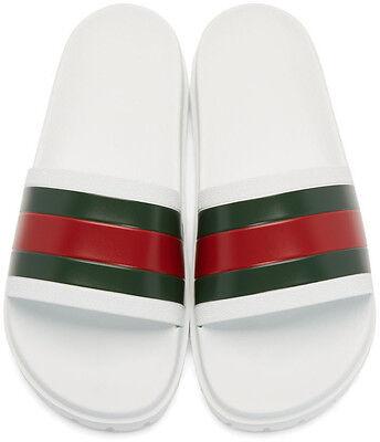 301ec4a7b GUCCI PURSUIT TREK Slides (Men) Size US 6-13 Sandals Flip Flops Slip On  White -  341.99