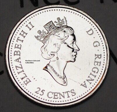Canada 1999 April 25 cents UNC Millenium Series Canadian Quarter 2