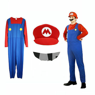 Men Adult Kids Women's Super Mario and Luigi Fancy Dress Cosplay Costume Outfit. 10