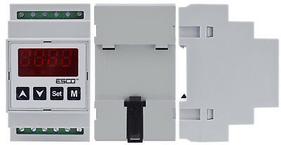 DIN Dual Temperature Controller two channel DOUBLE THERMOSTAT 2 SENSORS outputs 5