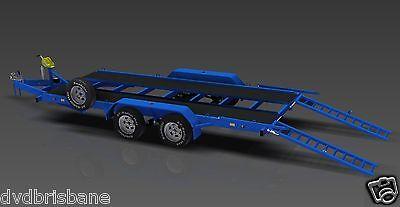 Trailer Plans- 3500KG FLATBED CAR TRAILER PLANS- 4800x1760mm- PRINTED HARDCOPY 3