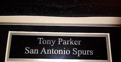 ... Autographed Jersey NBA Tony Parker Signed Framed San Antonio Spurs  Jersey COA 6 cf353dc4f