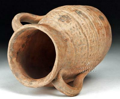 Romano Egyptian Terracotta Vessel with Face - Nubian Lot 14