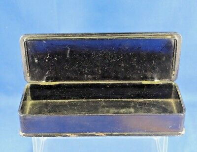 Antique Asian Lacquer Box With Gold Hand Painted Interior Scene 7