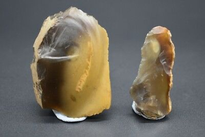 Group of 2 Neolithic flint scrapers C. 4500 - 2500 BC - British found 2