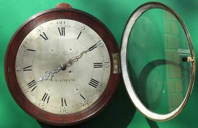"Early English Georgian 8 Day Verge Fusee 12"" Dial Clock Samuel Mortlock Clapham 4"