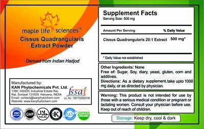 Cissus Quadrangularis 20:1 Extract Powder For bone strengthing & osteoporosis 2