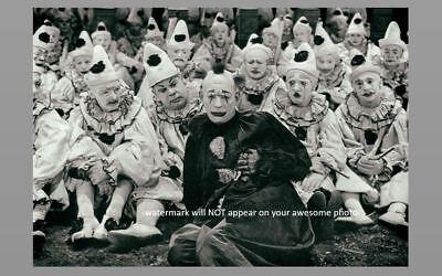 Scary Vintage Creepy Clown PHOTO Freak Strange Weird Halloween Costume Group 2