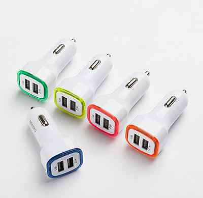 LED Dual USB Car Charger 2 Port Adapter Cigarette Socket Lighter For Cell Phone 4