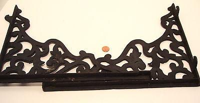 Pair Vintage Steel Shelf Brackets Lock In Type 12 x 14 Inches Victorian Style 9