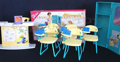 GLORIA Dollhouse Furniture Size Classroom PlaySet  (9816) NEW Classroom Chairs 4
